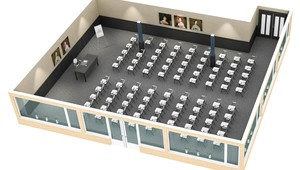 Volendammer meeting room floor plan Hotel Volendam