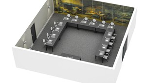 Purmer meeting room U-Shape floor plan Hotel Volendam