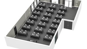 Purmer meeting room floor plan Hotel Volendam